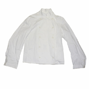 Swedish military surplus white chef buttoning jacket