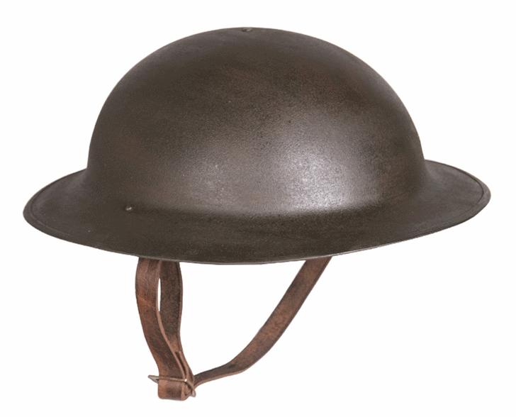 Reproduction U S M17 steel helmet WW1 aged
