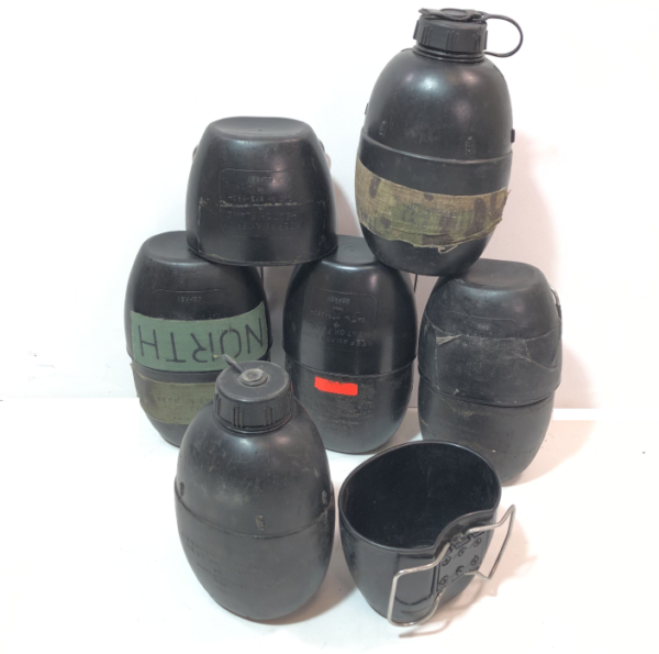 British army surplus 58 pattern water bottle and cup PLUS DPM camo canteen  pouch