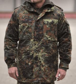 Original German army surplus flecktarn camouflage parka Used