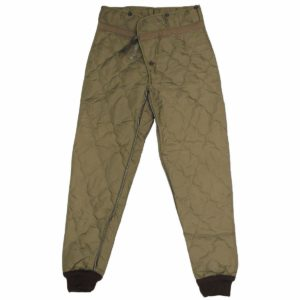 Czech army surplus cold weather quilted thermal trousers leggings liner