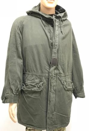 French army surplus F1 S300 lined parka olive green