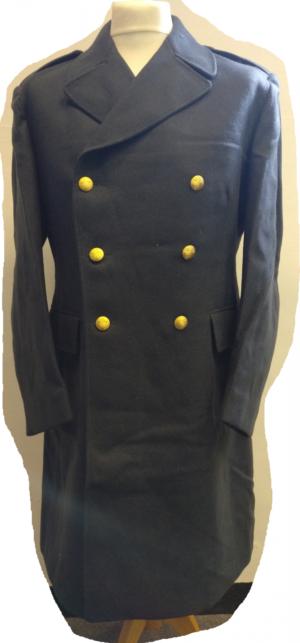 Swedish Air Force Surplus Wool Trench Coat Blue
