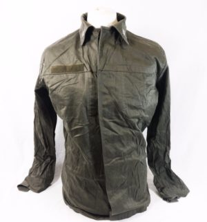 Vintage Italian army surplus cotton olive green field jacket