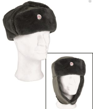 British army surplus cold weather winter cap, fold down ear