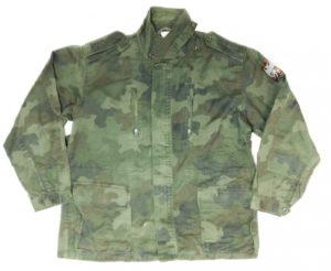 Army surplus Serbian cotton field jacket parka camouflage pattern zip pockets