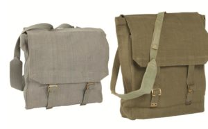 British army surplus m37 large heavy duty canvas bag Grey/Olive