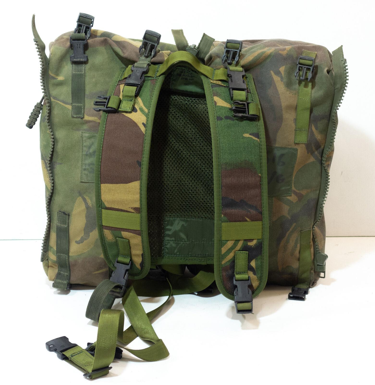British Army Surplus DPM Camouflage Daysack Yoke