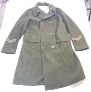 British army surplus vintage mounted regimental olive green great trench coat