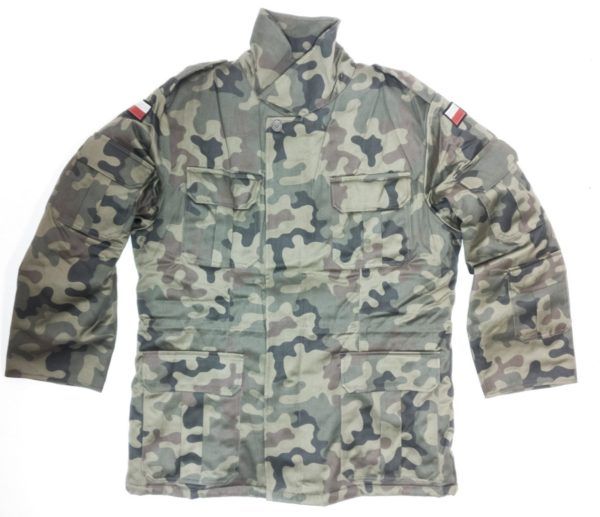 Polish East European army surplus camouflage parka removable liner