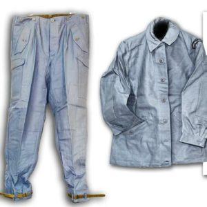 Swedish military / civil defence surplus vintage 2 piece trouser jacket set