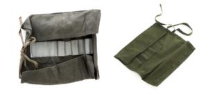 Swedish army surplus vintage cotton convas small tool roll