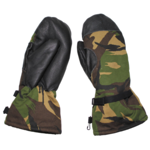 Dutch army surplus camo cold weather gloves mitts
