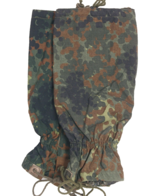 Genuine German army surplus flecktarn camouflage gaiters
