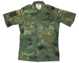 German Army Surplus Short Sleeve Flecktarn Field Shirt / Jacket