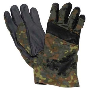 German army surplus camouflage leather palm combat gloves