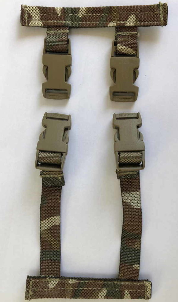 British Army Osprey Molle Straps Clips for Camelbak Hydration System - MTP