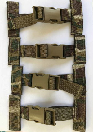 British Army Osprey Molle Pack of 4 T Bar Side Clips / Straps MTP Grade 1