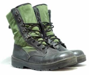 Dutch army surplus tropical combat boots