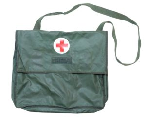 Swedish Army Surplus Vinyl Waterproof Medical First Aid Bag