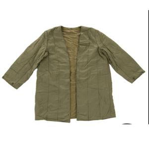 Vintage czech army surplus cotton parka liner olive green