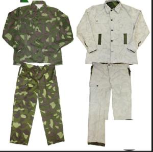 Finnish army surplus M62 reversisble jacket trousers snow camo suit