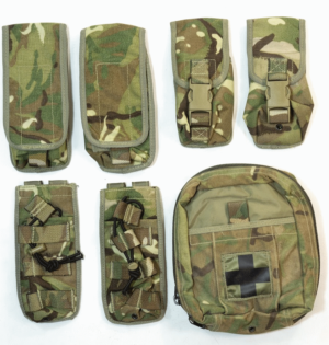 Set 7 British army surplus MTP camo Osprey pouches Medic
