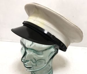 Genuine British Royal Navy Class 1 & 3 White Officer Cap Dress Hat.