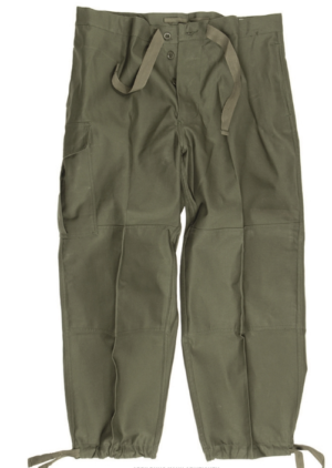 Belgian army surplus cotton m88 olive green field trousers