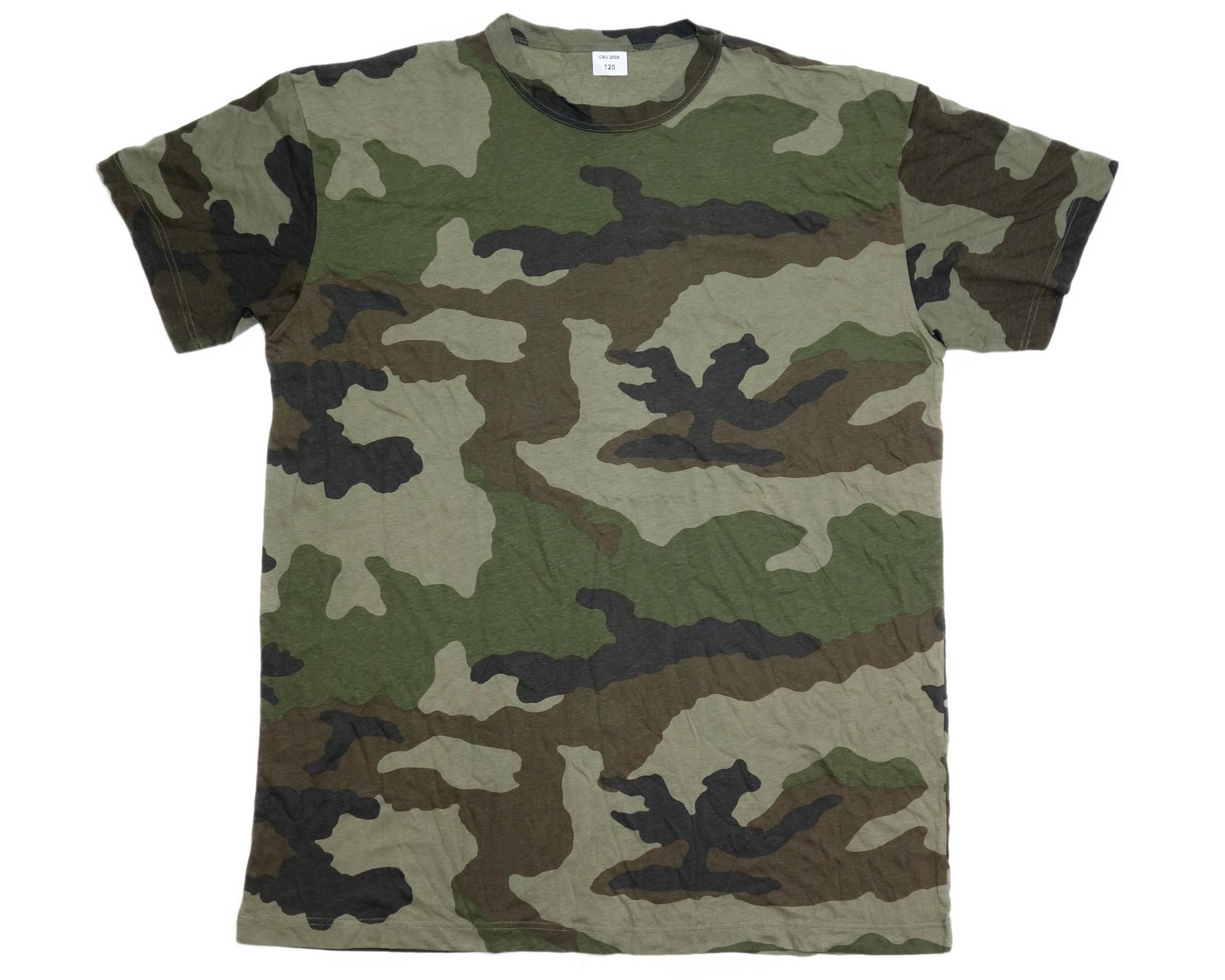 French Army Surplus Woodland Camouflage T-Shirt