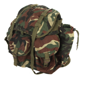 Nato standard issue woodland camouflage backpack rucksack