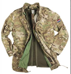 Dutch army surplus MTP camouflage 3 layer waterproof parka