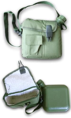 US amaerican 2 quart canteen and olive cover / shoulder strap