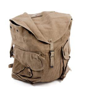 Vintage all canvas / cotton LARGE sized rucksack / backpack, bushcraft retro