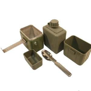 East European army complete mess set with cutlery canteen pouch