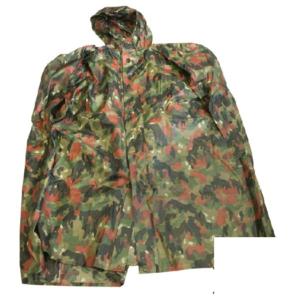 Swiss army surplus alpenflage camo waterproof poncho