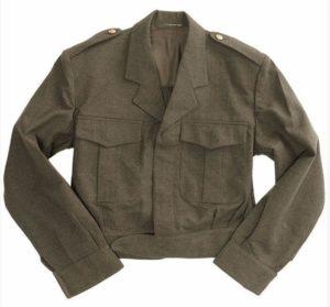 Belgian army surplus vintage wool Ike style jacket