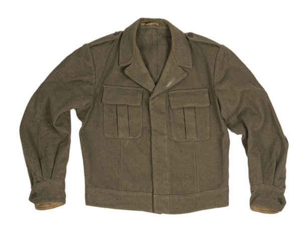 Italian army military surplus wool ike style uniform jacket