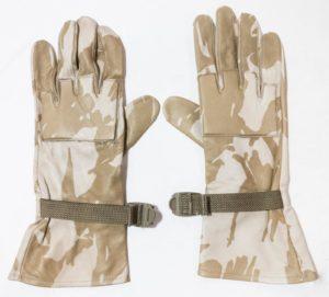British army surplus DESERT camo leather combat gloves