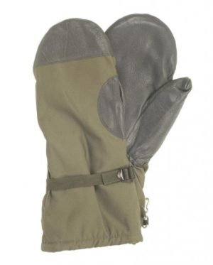 German army surplus leather palm cotton cold weather mitts gloves