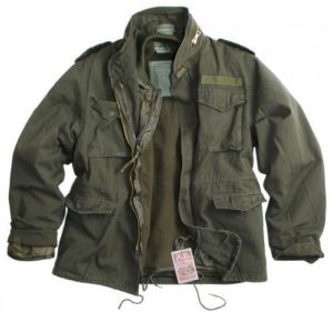 Vintage US Army Style M65 2 in 1 Stone Washed field jacket with removable liner