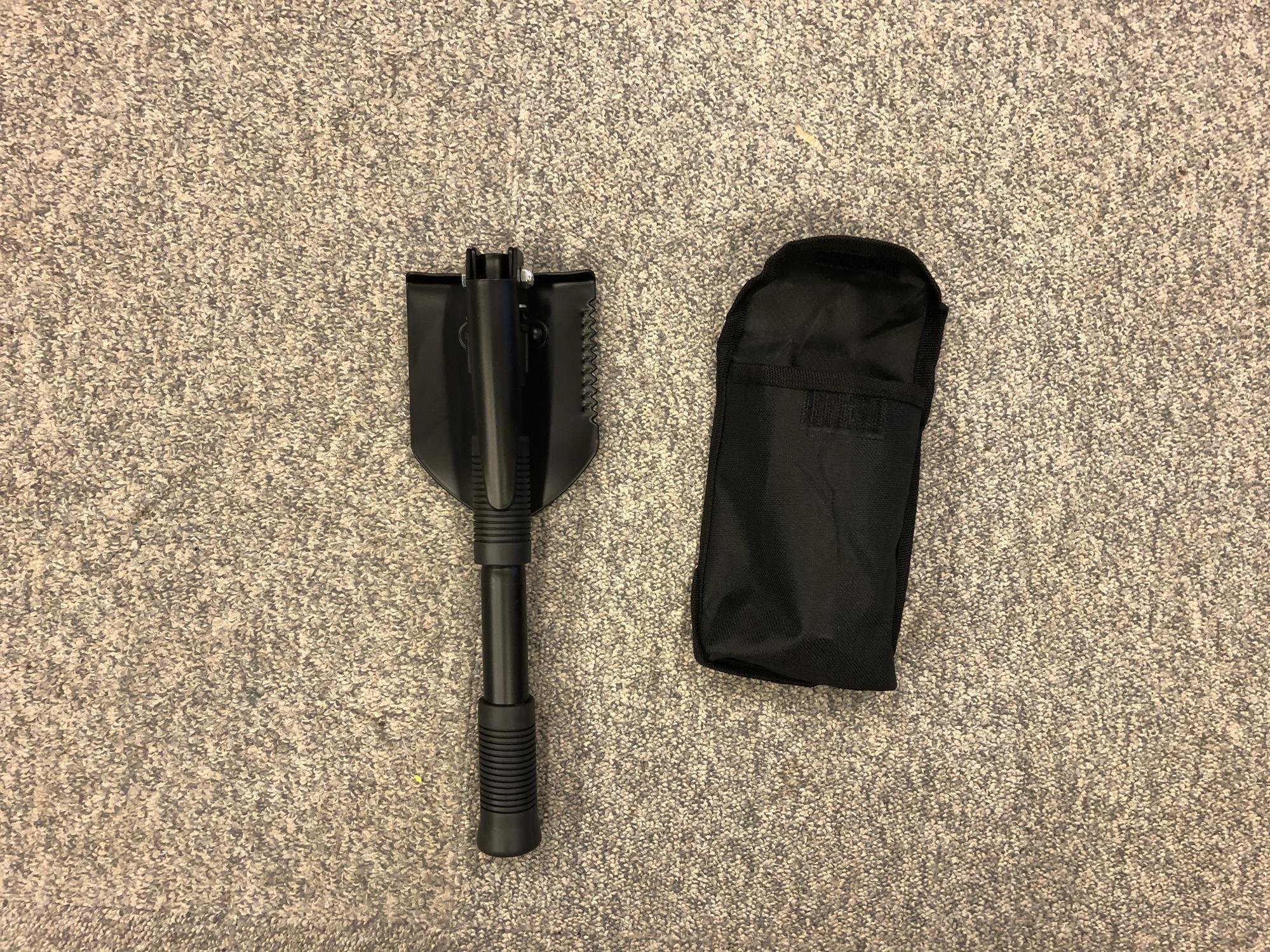 Metal mini folding shovel pick PLUS pouch multi function