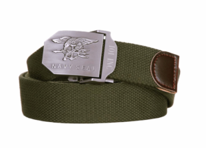101 inc navy seal olive cotton canvas metal combat style belt