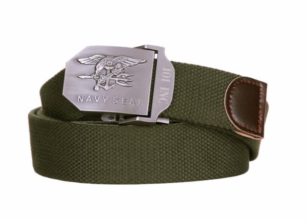 101 inc navy seal olive cotton canvas metal combat style belt
