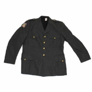Danish army military surplus womens / female green dress uniform jacket