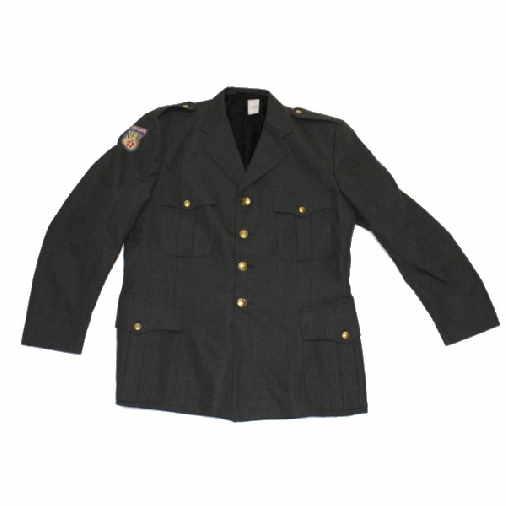 Danish army military surplus womens / female green dress uniform jacket