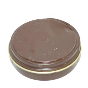 Dutch army surplus 80g tin brown leather shoe polish
