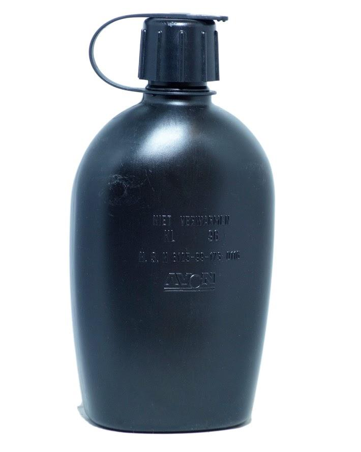 US army styled 1 quart water bottle canteen field flask olive green army cadet