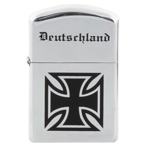 German Deutschland windproof metal cased fuel petrol lighter classic