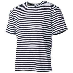 Russian Navy Telnyashka Marine Sailor Cotton T Shirt Sleeve, Striped